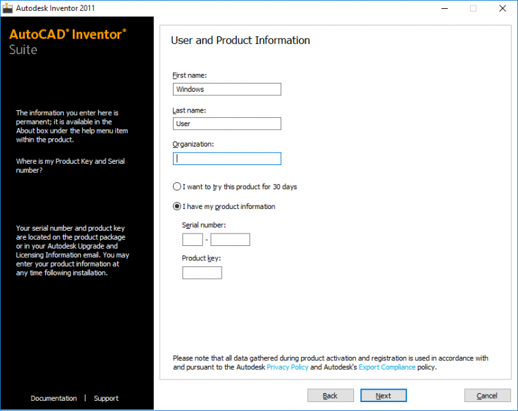 autodesk inventor 2011 serial number and product key